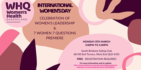 WHQ International Women's Day Celebration of Women's Leadership tickets