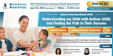 FREE WEBINAR: Understanding my child with ASD & finding the path to success tickets