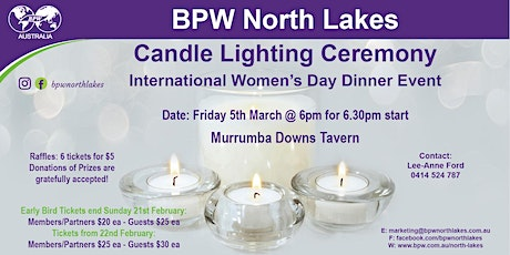 BPW North Lakes Candle Lighting Ceremony 2021 tickets