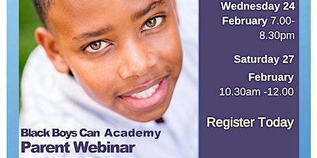 The Black Boys Can Academy Parent Webinar tickets