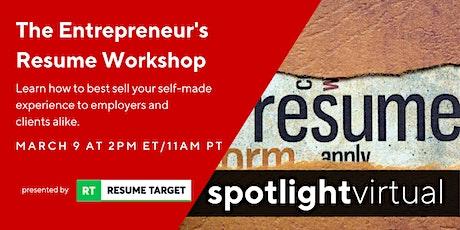 The Entrepreneur's Resume Workshop tickets