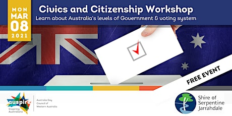 FREE: Civics and Citizenship Workshop - Shire of Serpentine Jarrahdale tickets