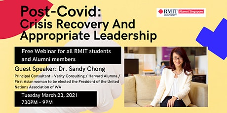 RMITAS Webinar: Post-Covid - Crisis Recovery And Appropriate Leadership tickets