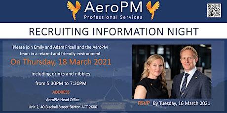 AeroPM Recruiting Information Night tickets