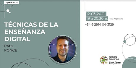"""Técnicas de Enseñanza Digital"" Por  Paul Ponce - Sharing Materials entradas"