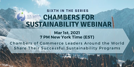 """6th """"Chambers for Sustainability"""" Webinar tickets"""