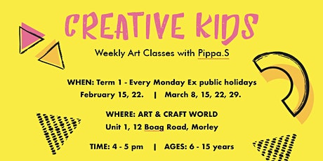 Creative Kids - Weekly Art Classes with Pippa.S tickets