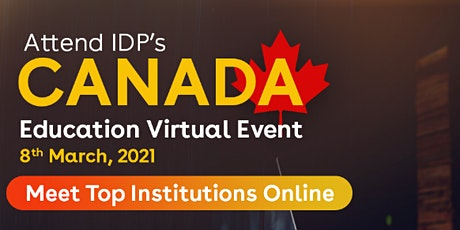 Attend IDP's Canada Education Virtual Event tickets