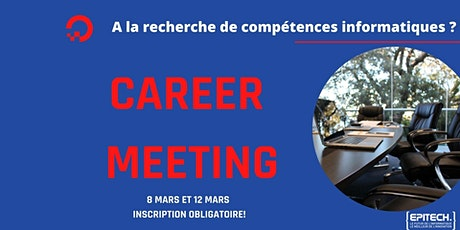 Career Days Tech 1: Vendredi 12 Mars 2021 billets