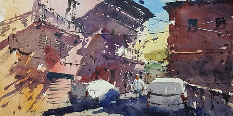 a piazza in Tuscany: watercolours with Tim Wilmot tickets