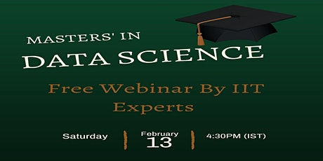 Masters in Data Science with Python-Free Online Webinar on 13th Feb, 4:30PM tickets