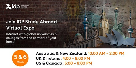 IDP Study Abroad Virtual Expo in UAE tickets