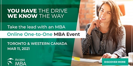 Toronto and Western Canada Online MBA event tickets