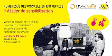 Atelier de sensibilisation sur le numérique responsable en entreprise billets