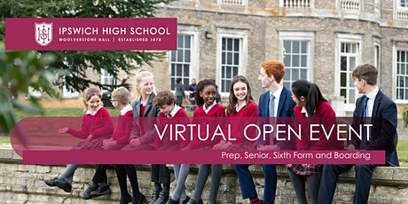 Sixth Form Virtual Open Morning at Ipswich High School tickets