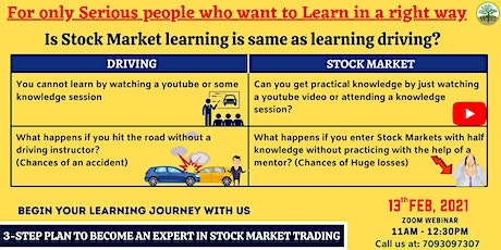 3-STEP PLAN TO BECOME  AN EXPERT IN STOCK MARKET TRADING tickets