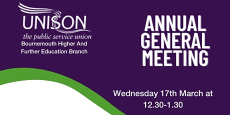 Bournemouth Higher & Further Education Branch Annual General Meeting tickets