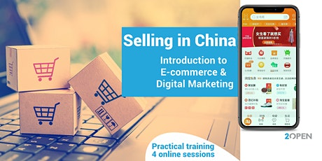 4 practical sessions. Selling in China, E-commerce & Digital Marketing tickets