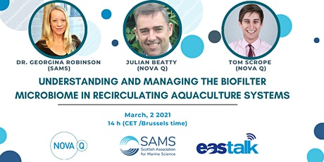 EAStalk Nova Q & SAMS - Biofilter microbiome in RAS tickets