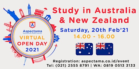 VIRTUAL UNIVERSITY OPEN DAY : STUDY IN AUSTRALIA AND NEW ZEALAND tickets