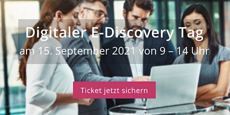 Digitaler E-Discovery Tag - 15. September 2021 tickets