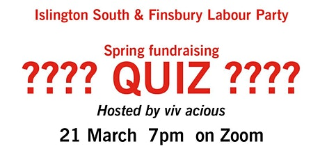 Spring fundraising quiz tickets
