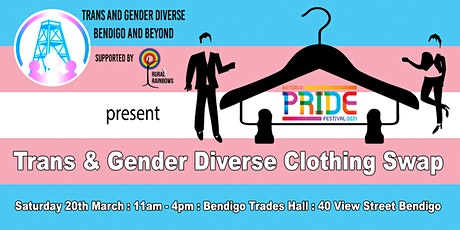 Trans and Gender Diverse clothing swap tickets