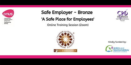 Safe Employer (Bronze) Antrim & Newtownabbey tickets