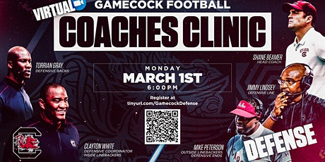UofSC FB March 1, 2021 Zoom Coaches Clinic - Defense tickets