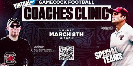 UofSC FB March 8, 2021 Zoom Coaches Clinic - Special Teams tickets