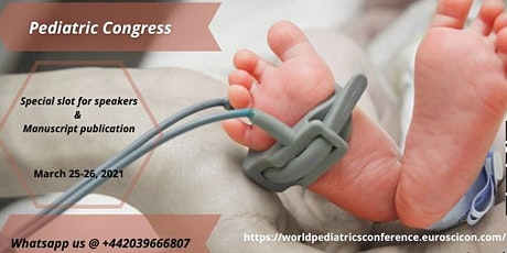 7th International conference on  World pediatric Congress tickets