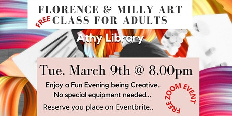 Athy Library Presents:   Pencil Drawing Class with Florence and Milly tickets