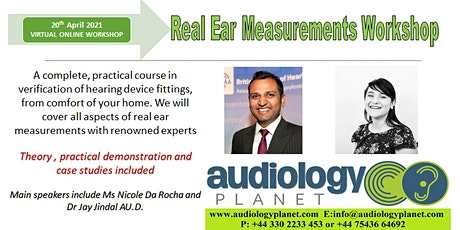Real Ear Measurements: Virtual Workshop in Verification of Hearing Devices tickets