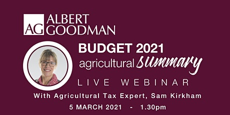 Budget 2021 Agricultural Summary tickets