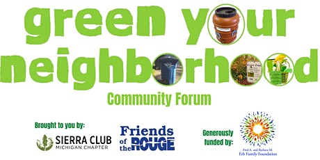 Green Your Neighborhood: A Resident's Resource Guide tickets