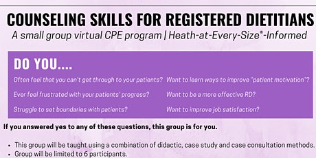 Counseling skills for Registered Dietitians tickets