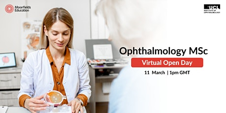 Ophthalmology MSc - Virtual Open Day tickets