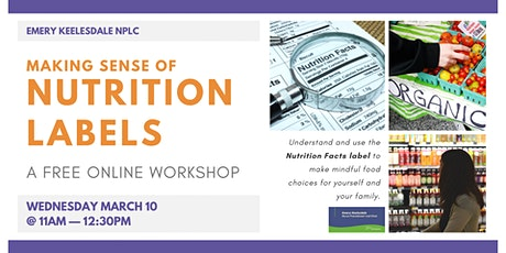 Workshop: Nutrition Labels tickets