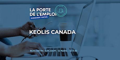 Café employeur virtuel avec Keolis Canada billets