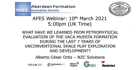 AFES March Technical Talk: PETROPHYSICAL EVALUATION OF THE VACA MUERTA tickets