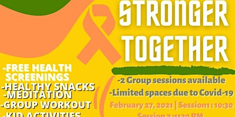 Stronger Together ; Workout and Meditation tickets
