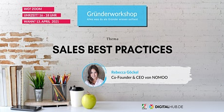 Gründerworkshop - Sales Best Practices Tickets