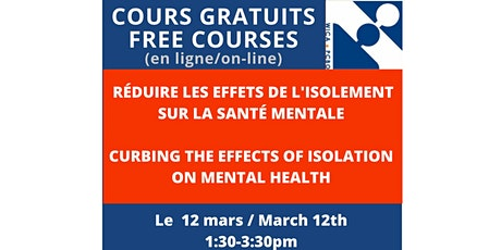 FREE COURSE : Curbing the Effects of Isolation on Mental Health Tickets