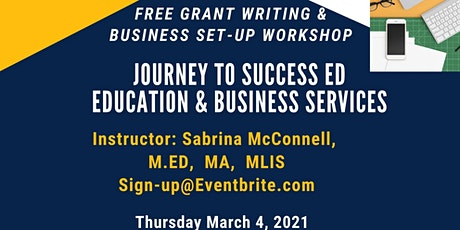 Free Information Grant Writing & Business Set-Up Workshop tickets