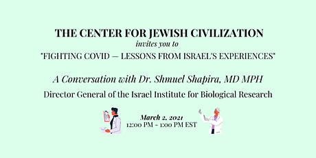 Fighting COVID – Lessons From Israel's Experiences tickets