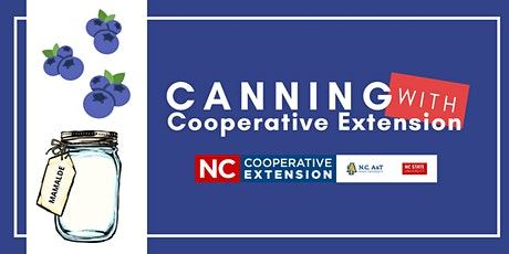 Canning With Cooperative Extension - Blueberries tickets