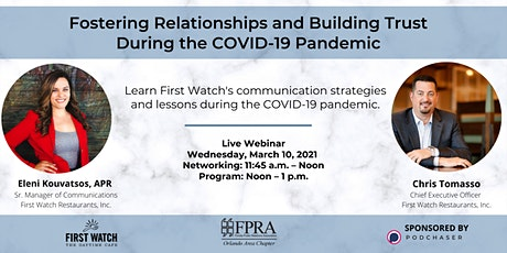 Fostering Relationships and Building Trust During the COVID-19 Pandemic tickets