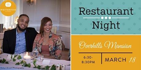 Whitehouse Caterers' March Restaurant Night at Overhills Mansion tickets