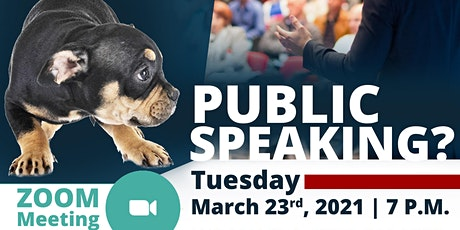 ARE YOU AFRAID OF PUBLIC SPEAKING?  AREA 61 >  OPEN HOUSE tickets
