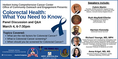 Colorectal Health: What You Need to Know tickets